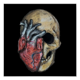 Love or die skull poster
