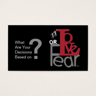 Love or Fear - Decision Cards