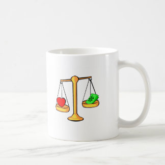 Love Or Money Classic White Coffee Mug
