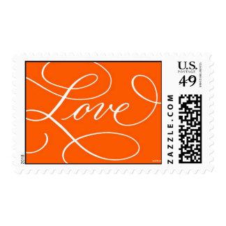 Love . Orange Hot Orange Postage