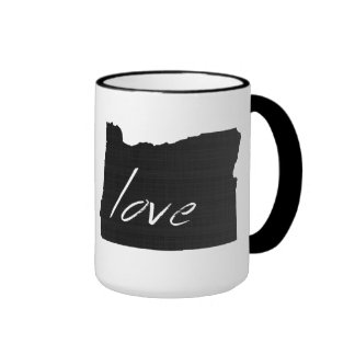 Love Oregon Ringer Mug
