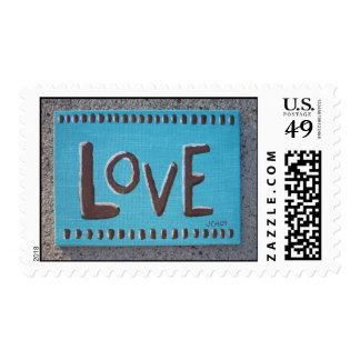 Love original canvas painting postage
