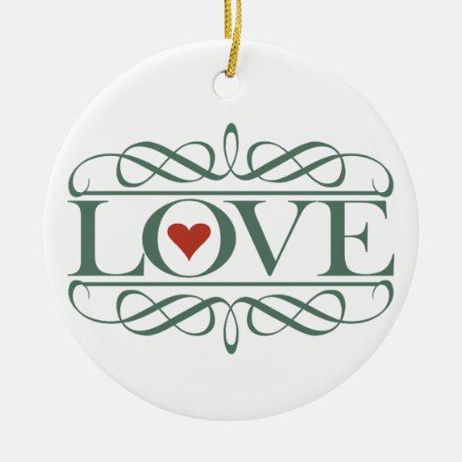 LOVE CHRISTMAS TREE ORNAMENTS