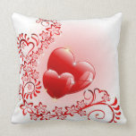 Love Ornamental Hearts Pillow