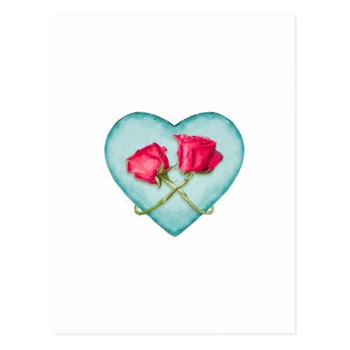Love Ornate Motif Print Postcard