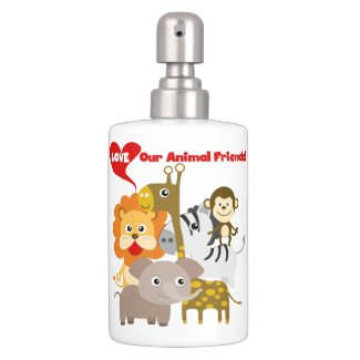 Love Our Animal Friends Bathroom Set