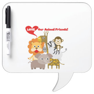 Love Our Animal Friends Dry-Erase Board