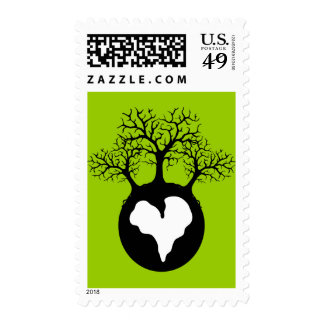 LOVE OUR EARTH PLANET LOGO SYMBOL CAUSES MOTIVATIO STAMP