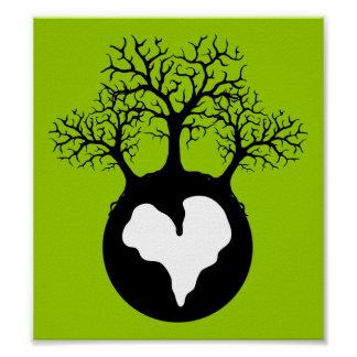 LOVE OUR EARTH PLANET LOGO SYMBOL CAUSES MOTIVATIO POSTER