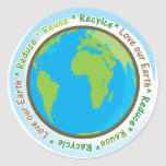 Love Our Earth- Reduce,Reuse, and Recycle! Classic Round Sticker