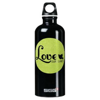 Love Our Planet Aluminum Water Bottle