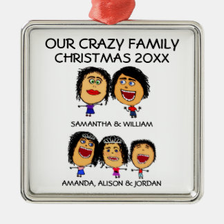 Love Our Three Crazy Kids Ornament
