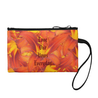 Love Our Vows Amber Lilies Coin Wallet