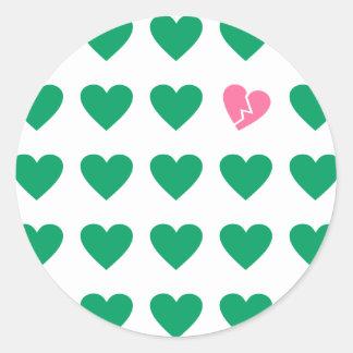 love outcast classic round sticker