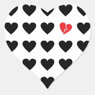 love outcast heart sticker