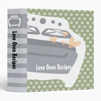 love oven kitchen stove recipe cookbook binder