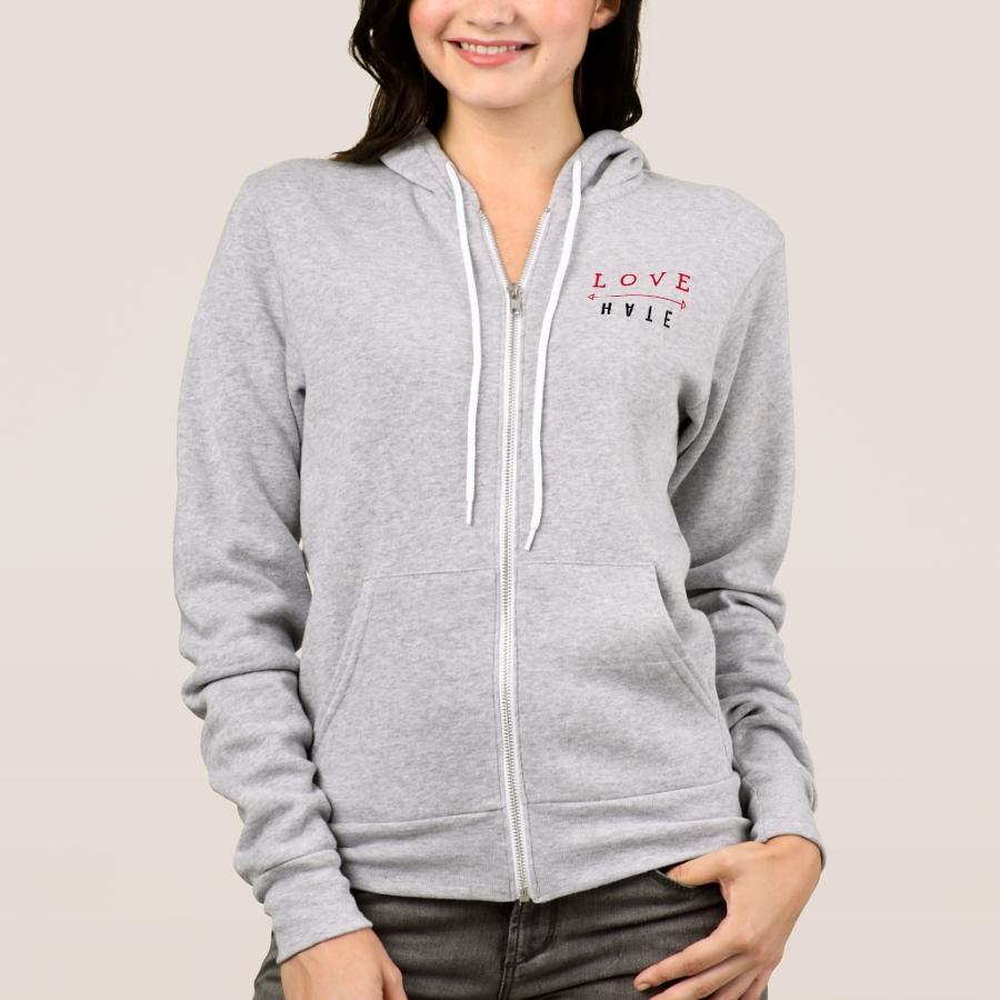 Love Over Hate Hoodie - Creative Long-Sleeve Fashion Shirt Designs