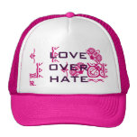 Love Over Hate Pink Customized Female Hat