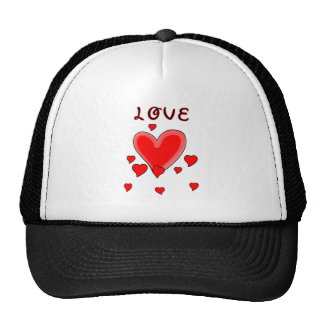 Love Over Hearts Hat