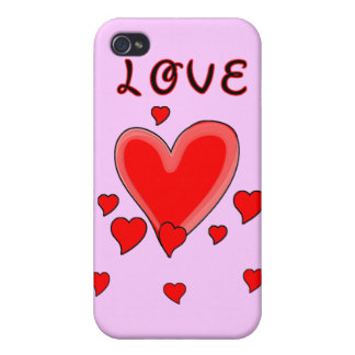 Love Over Hearts iPhone 4/4S Covers