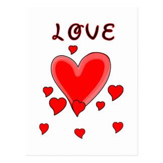 Love Over Hearts Postcard