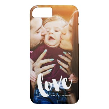 "heartlocked ""Love"" Overlay Photo iPhone 7 Case"