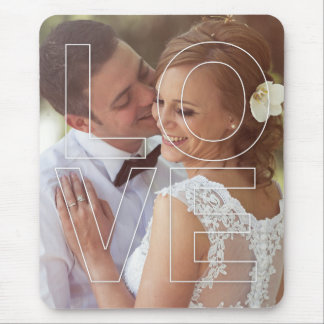 LOVE Overlay Photo Mouse Pad