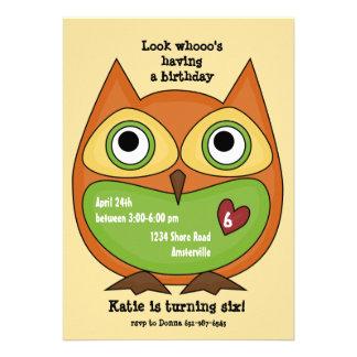 Love Owl Invitation