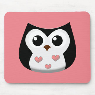 Love Owl Mouse Pad