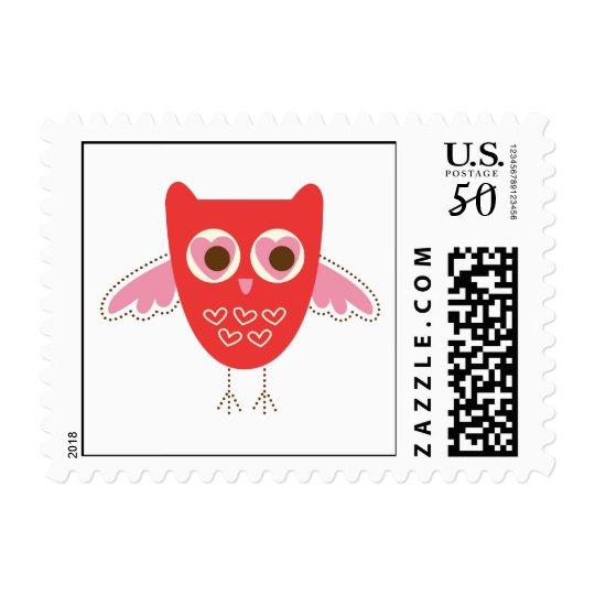 love owl postage stamp