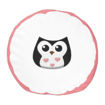 Love Owl Pouf Pillow