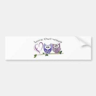 Love Owl~ways, cute Owls art gifts Bumper Sticker