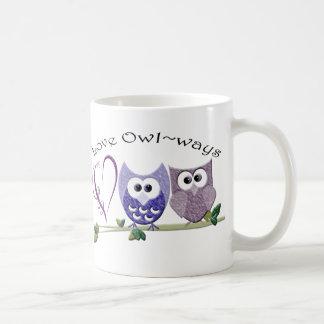 Love Owl~ways, cute Owls art gifts Coffee Mug