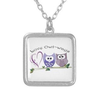 Love Owl~ways, cute Owls art gifts Custom Jewelry