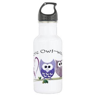 Love Owl~ways, cute Owls art Water Bottle