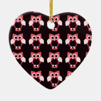 Love owls ceramic ornament