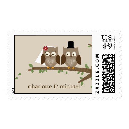 Love Owls Custom Postage Stamp Stamps