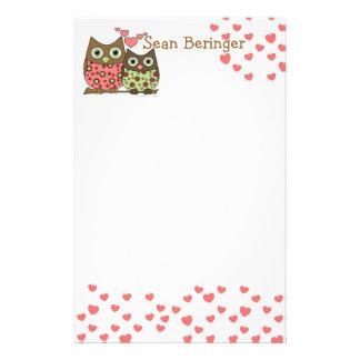 Love Owls Customized Stationery