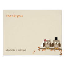 Love Owls Fall Wedding Thank You Cards