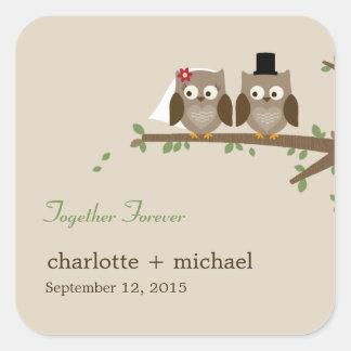 Love Owls Favor Sticker