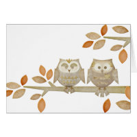 Love Owls in Tree Card