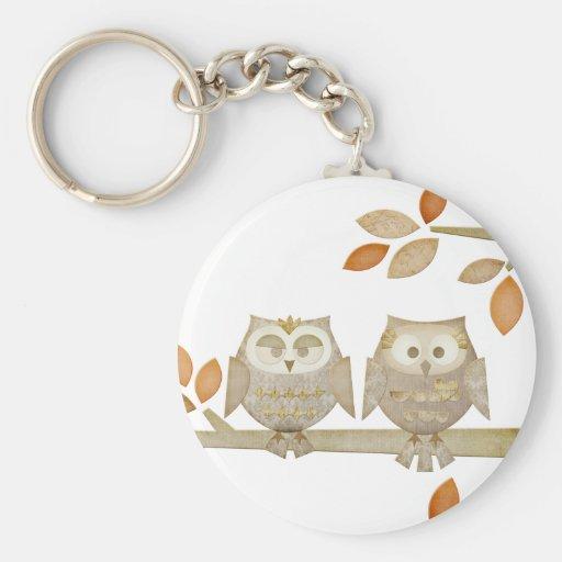 Love Owls in Tree Keychain