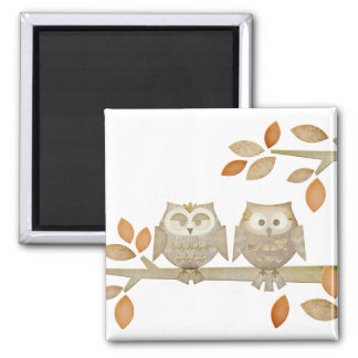 Love Owls in Tree Magnet