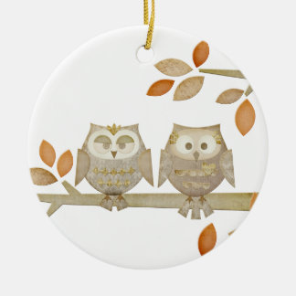 Love Owls in Tree Ornament