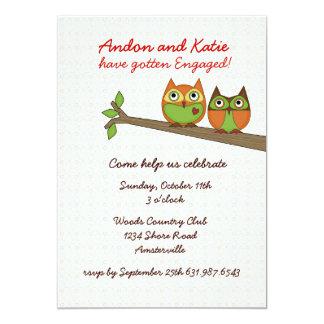 Love Owls Invitation. Card