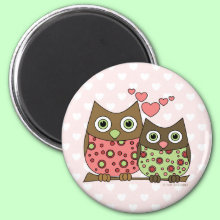 Love Owls Magnet - For those 'hoo' you love. Perfect for Valentine's Day or any day!
