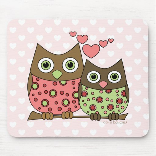 Love Owls Mouse Pads