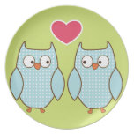 love owls party plates