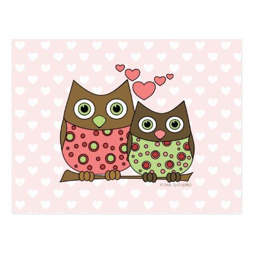 Love Owls Postcard