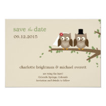 Love Owls Save The Date /Wedding Announcements